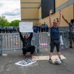 Un momento della protesta dopo la morte di George Floyd
