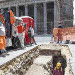 Al Pantheon di Roma è stata riportata alla luce l'antica pavimentazione di epoca imperiale