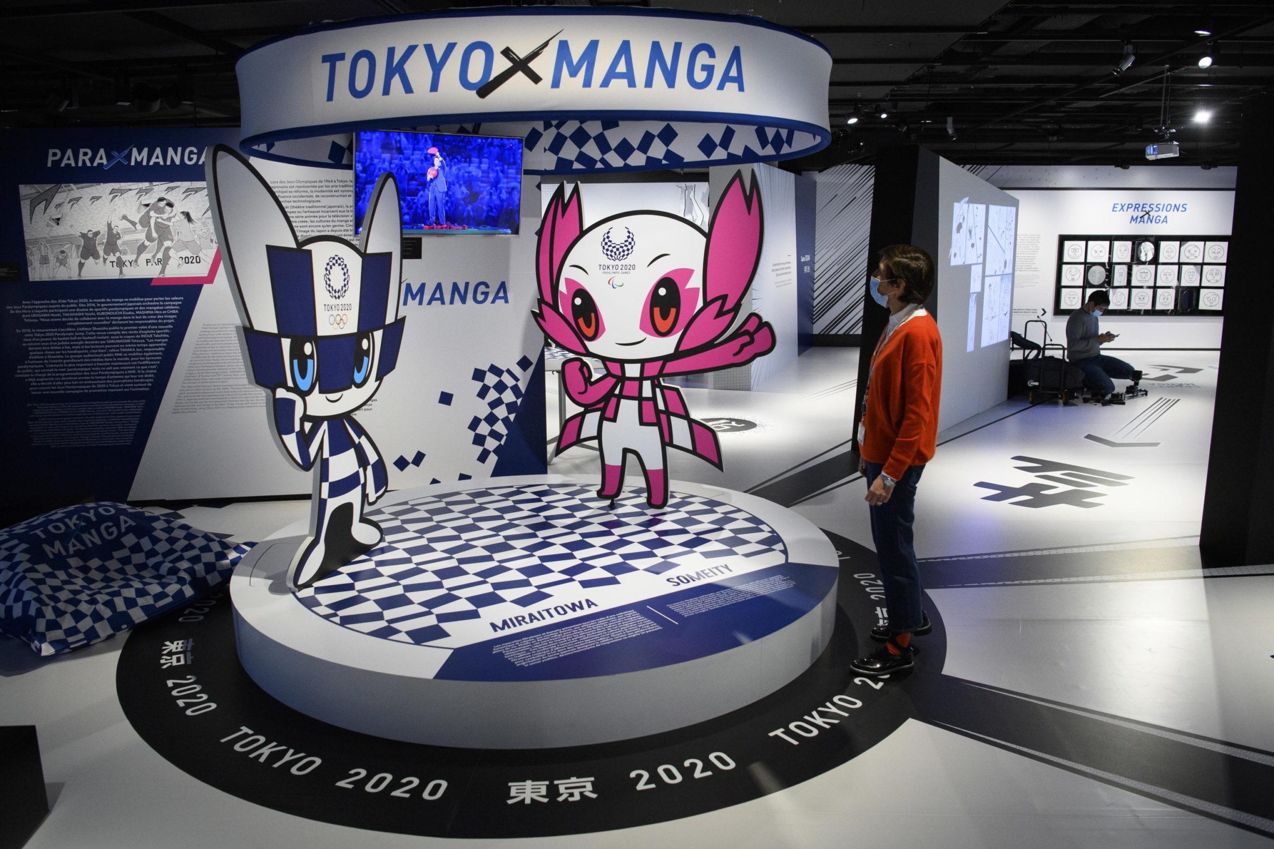 """L'interno della mostra """"Manga Sport"""""""
