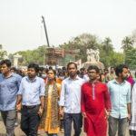 I manifestanti sostengono il partito di sinistra del Bangladesh
