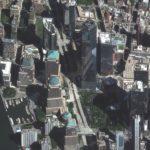 Un'immagine satellitare del World Trade Center