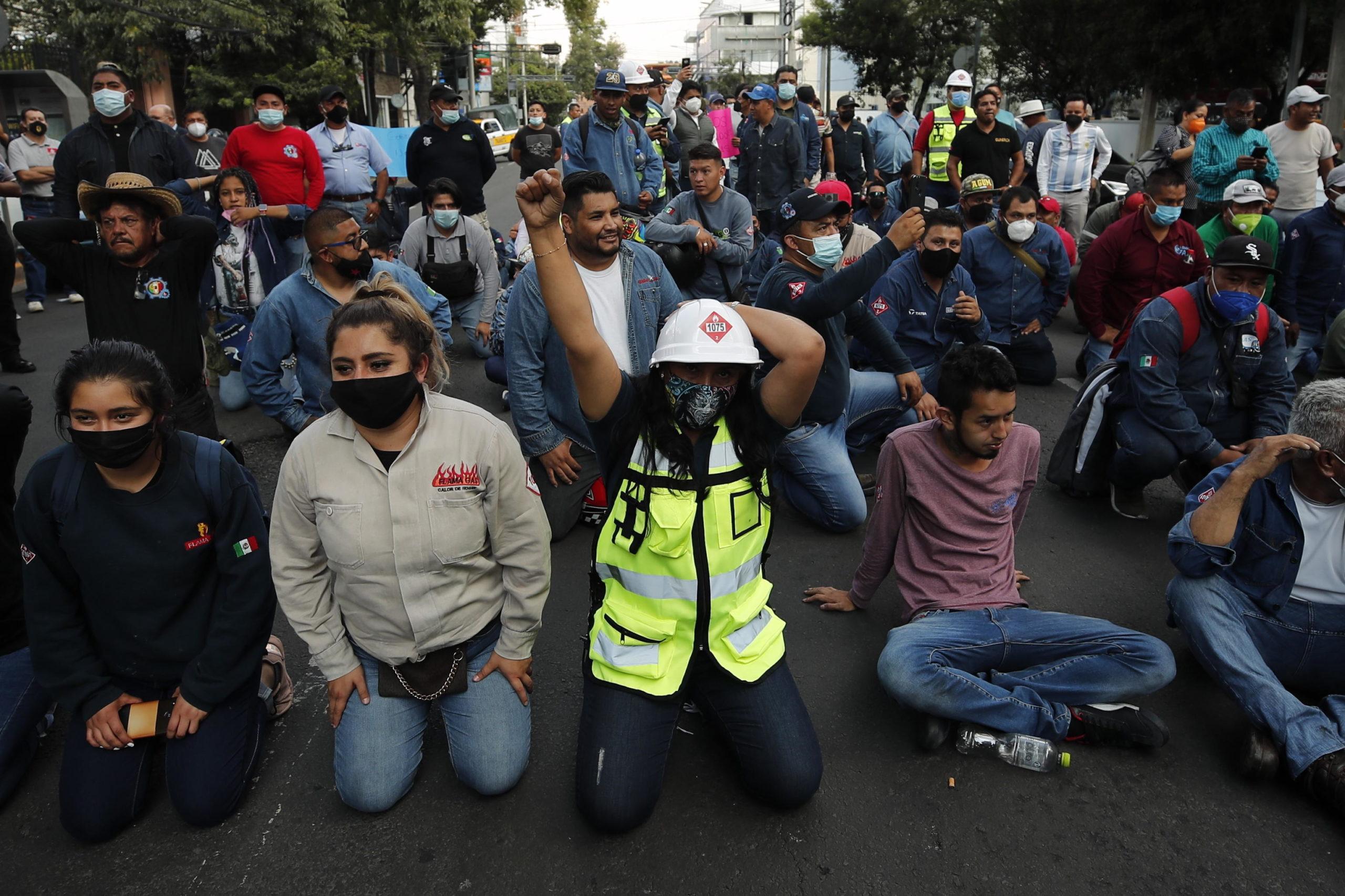 Gli scioperanti manifestano nella Capitale