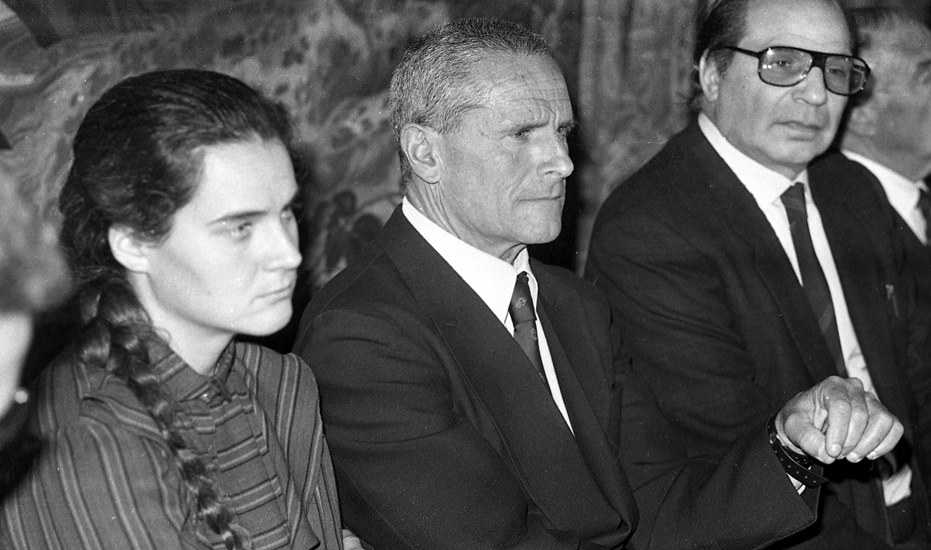 Conferenza stampa di rossana e enzo maiorca, Roma 11 aprile 1986