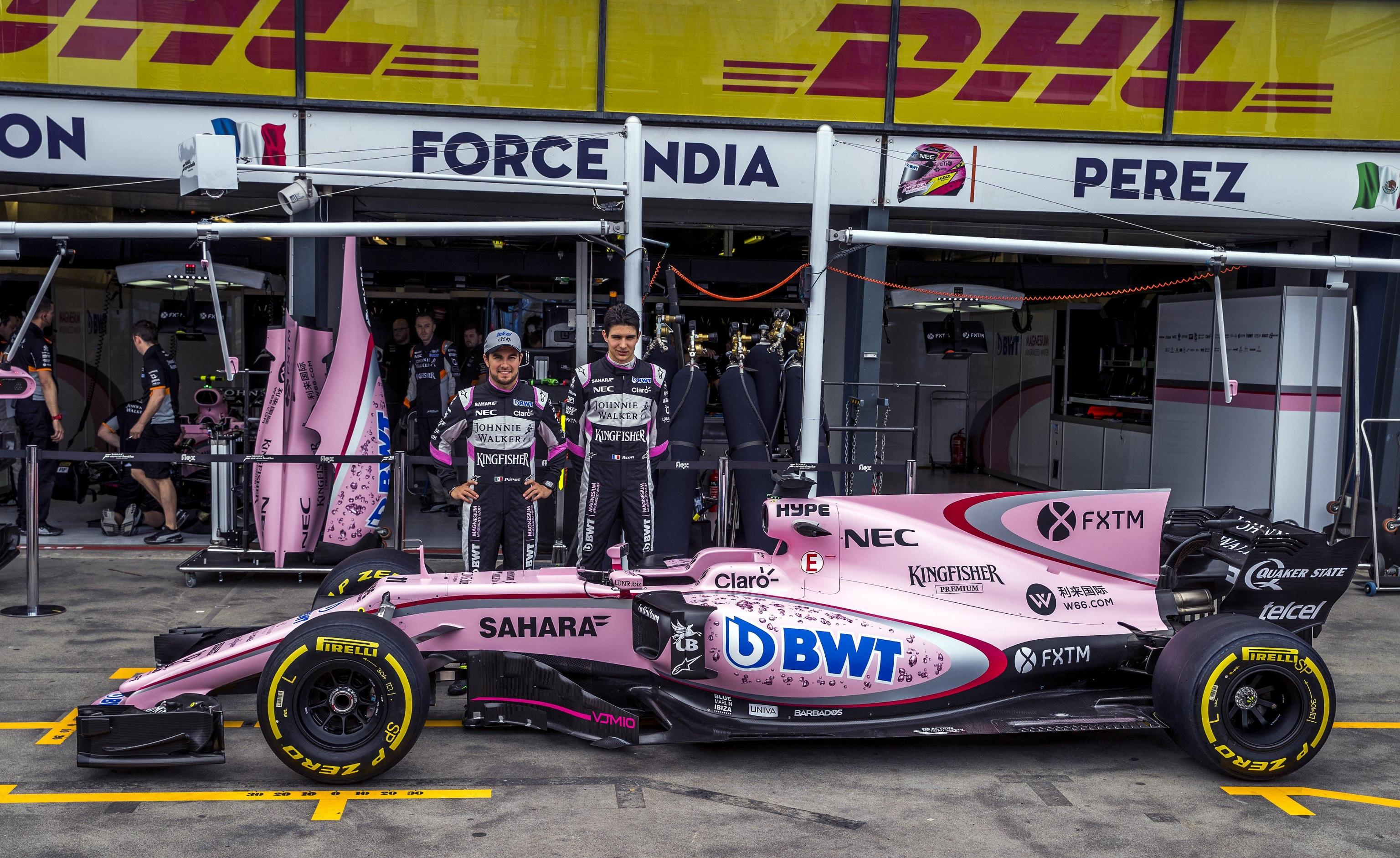 Sergio Perez ed Esteban Ocon, Force India F1