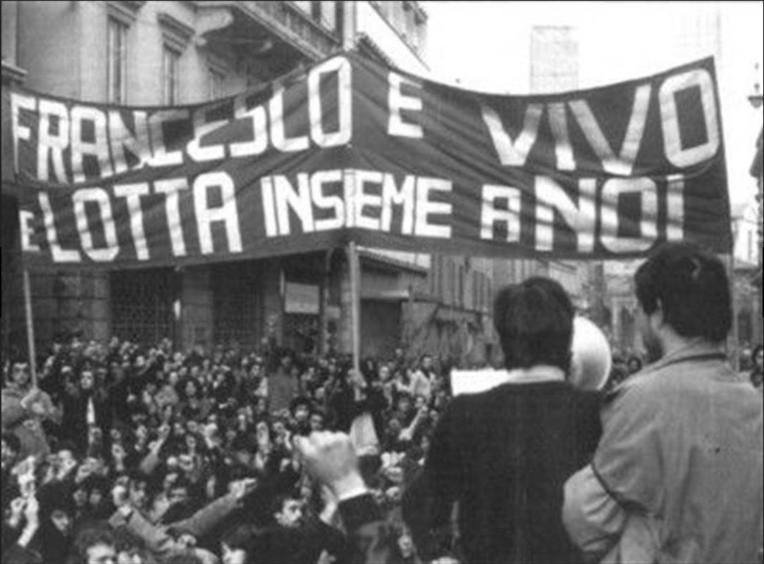Manifestazione a Bologna il 12 marzo 1977