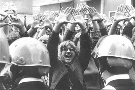 Manifestazione femminista nel 1977